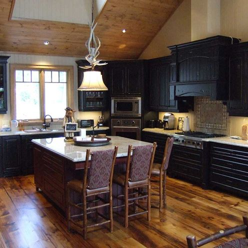 beautiful black kitchen