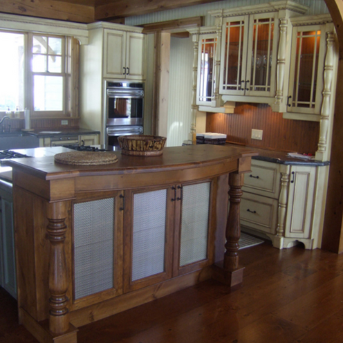 Traditional cream and dark wood kitchen