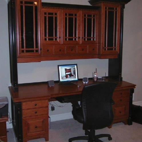 Wooden black desk